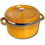 Staub芥末黃26cm蒸籠經典燉鍋