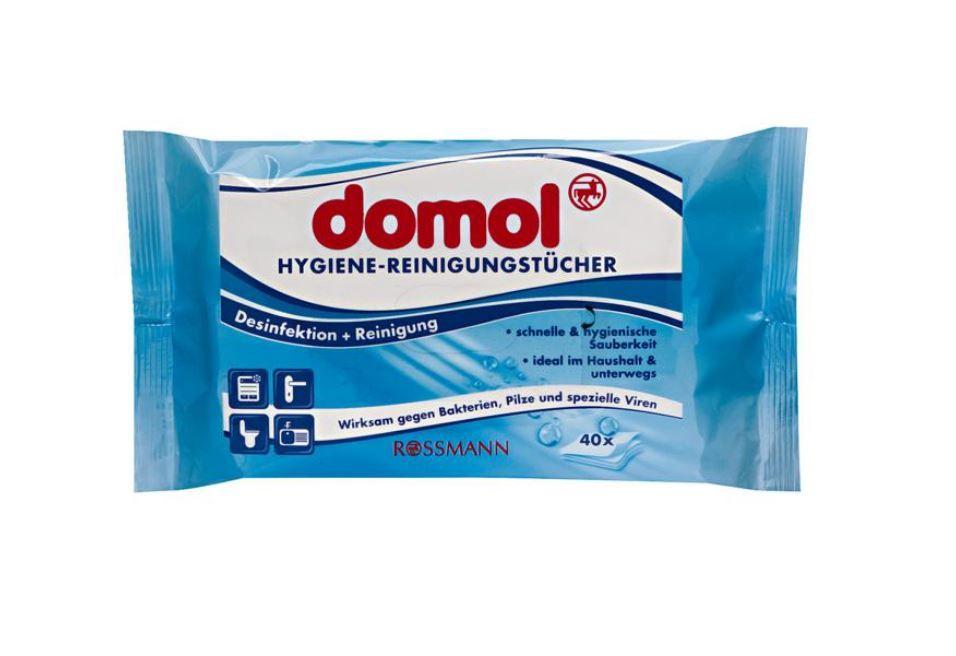 Domol 抗菌濕紙巾 40抽 Hygiene-Reinigungstücher