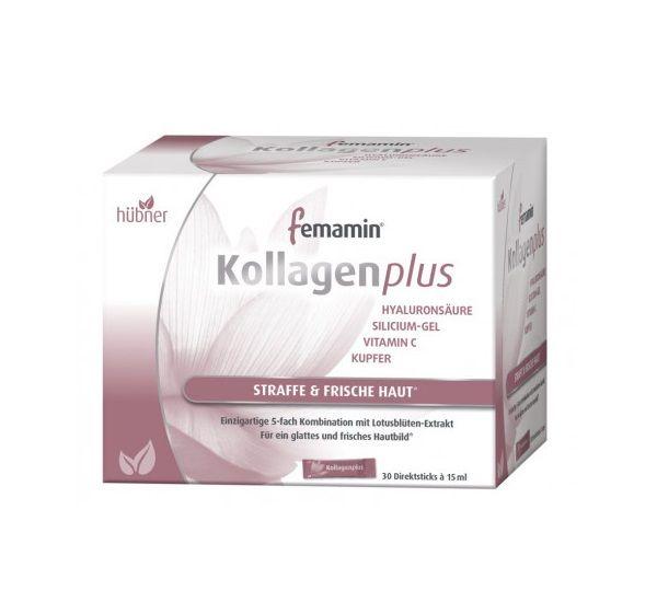 Hübner 膠原蛋白胜肽+玻尿酸 femamin kollagen plus 15ml*30入