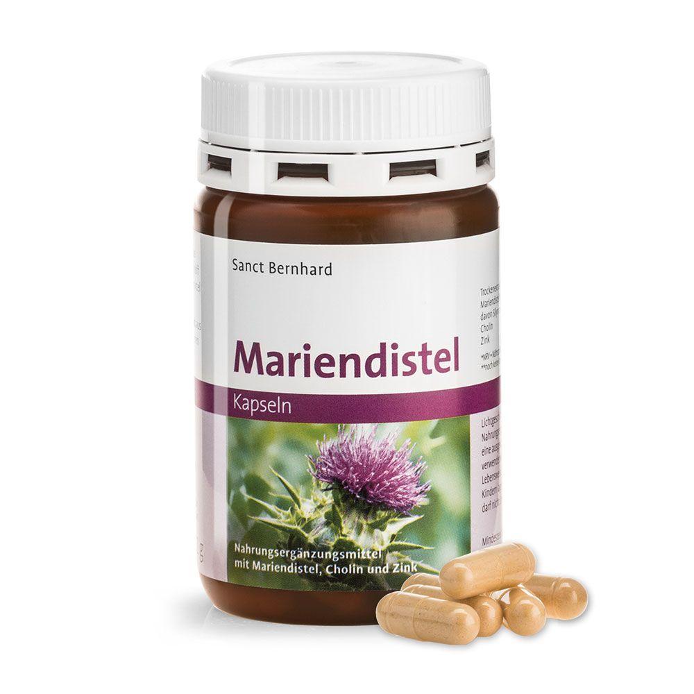 Sanct Bernhard 80%高含量水飛薊素Mariendistel (Silymarin) 90顆