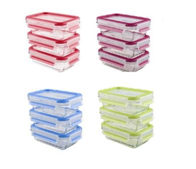 EMSA玻璃保鮮盒3件組 0.5+0.5+0.5L